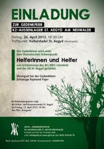 A5 EinladungFlyer KZ Gedenkfeier_2013
