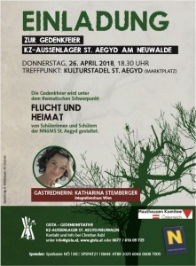Flyer - Gedenkfeier 2018 - Screenshot