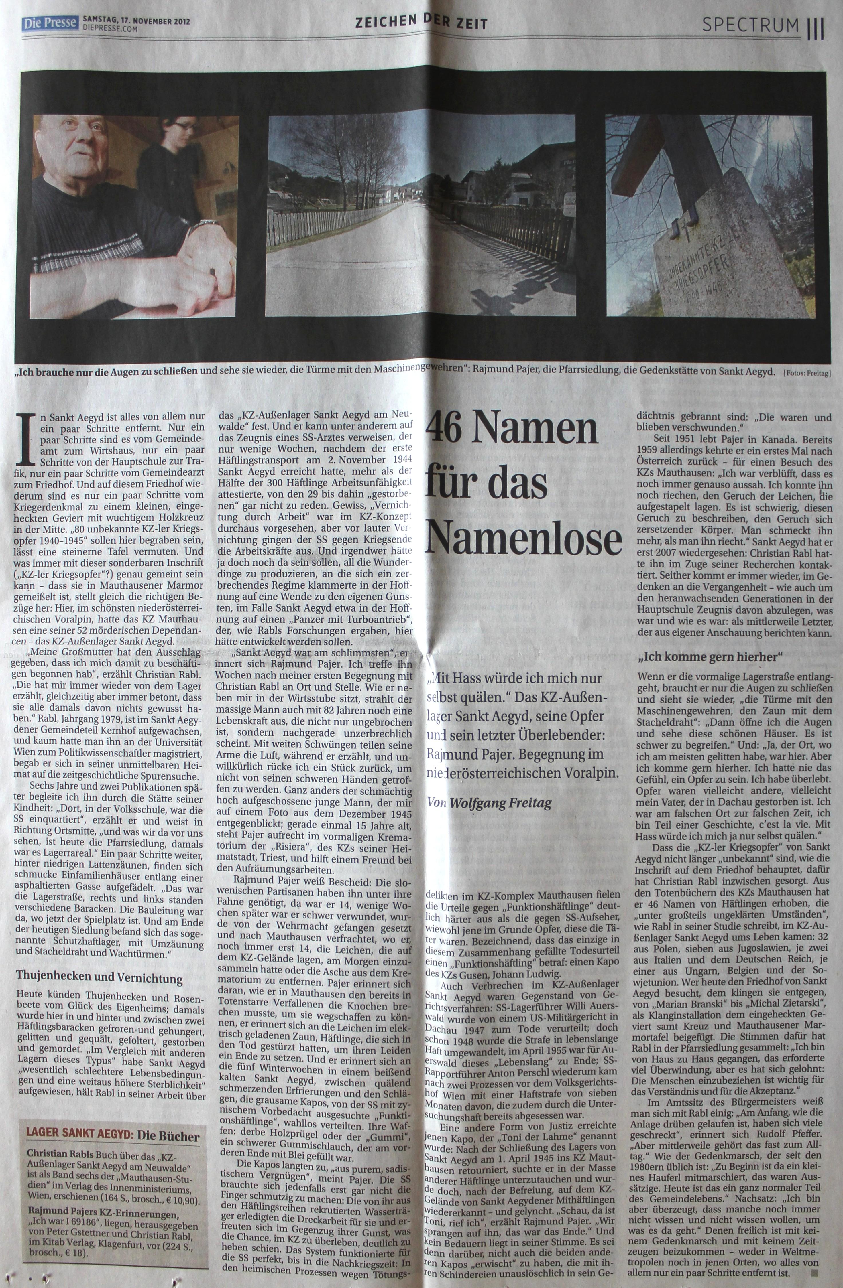 St. Aegyd im Presse-Spectrum - 2012-11-17-neu